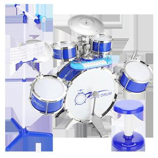 架子鼓兒童玩具男孩爵士鼓1-6歲初學者入門嬰幼兒樂器寶寶敲打鼓3