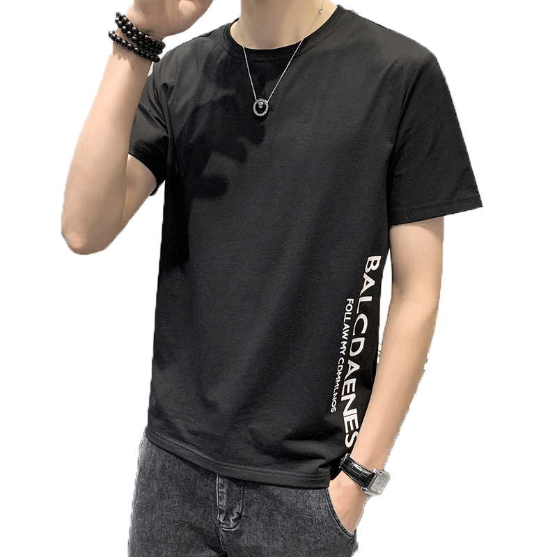 2020T恤男短袖纯棉夏季新款韩版短袖丅恤潮流修身T恤男学生上衣潮