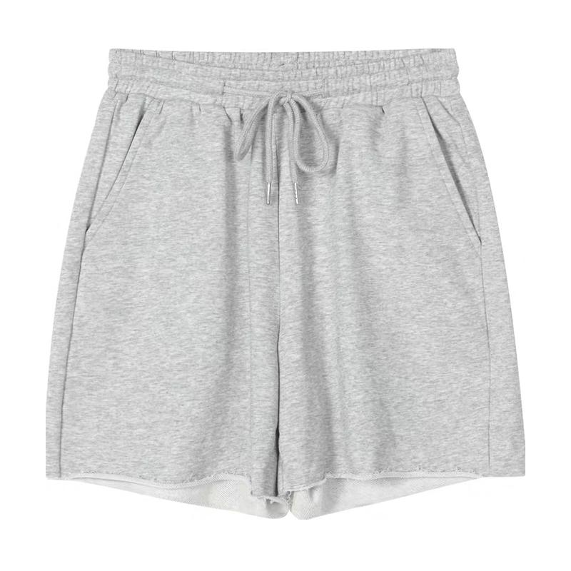 高腰a字阔腿中裤运动短裤