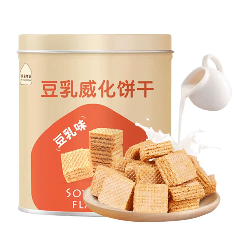 【买一送一】亲亲豆乳威化饼干600g