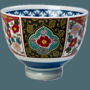 日式米飯碗家用吃飯碗古伊萬里日式餐具創意商用陶瓷飯碗高腳碗
