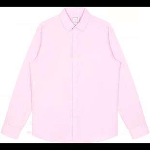 GXG奧萊清倉 春季粉色免燙修身商務休閒尖領長袖襯衫男#GY103798A