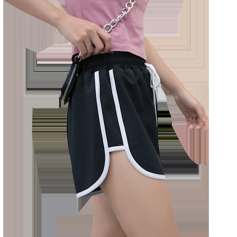 运动短裤女夏ins潮2020新款外穿居家睡裤休闲高腰宽松显瘦沙滩裤