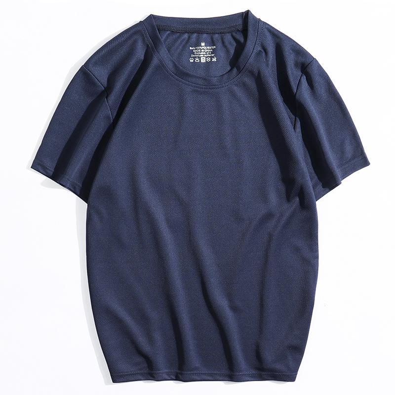 2020夏季新款冰丝运动T恤休闲跑步健身宽松速干男士短袖体恤