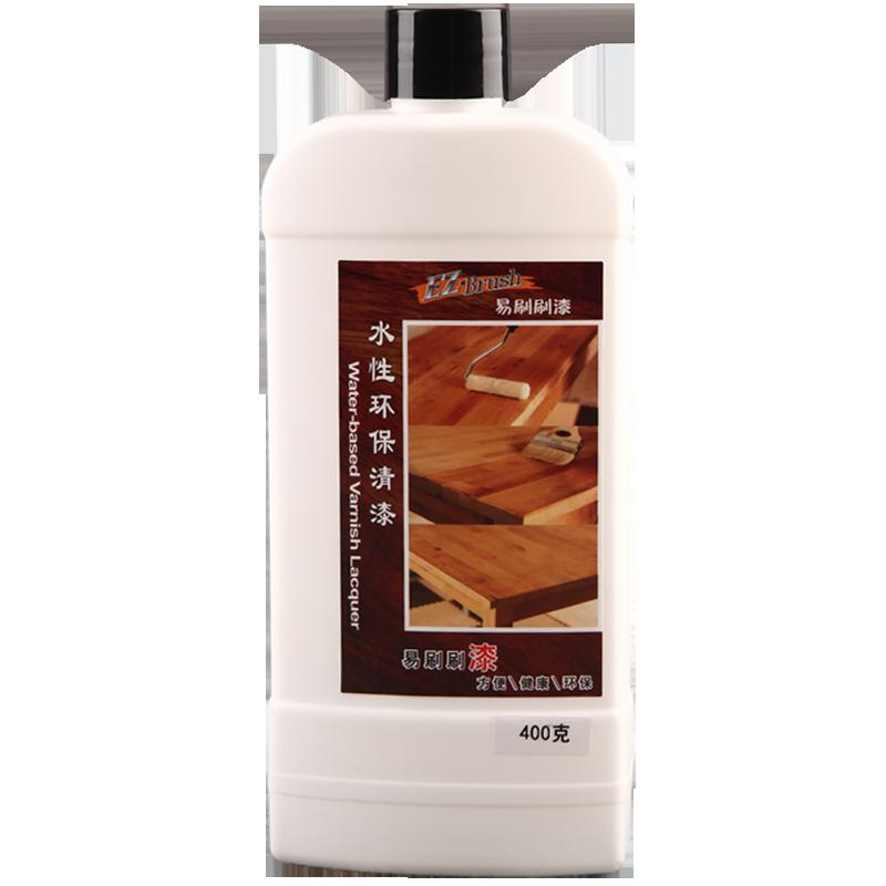 易刷刷水性清漆木器漆透明防水亮哑光实木地板家具翻新油漆小瓶装
