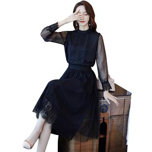 名媛氣質輕熟風時尚套裝秋冬2020新款小個子御姐洋氣女神範兩件套