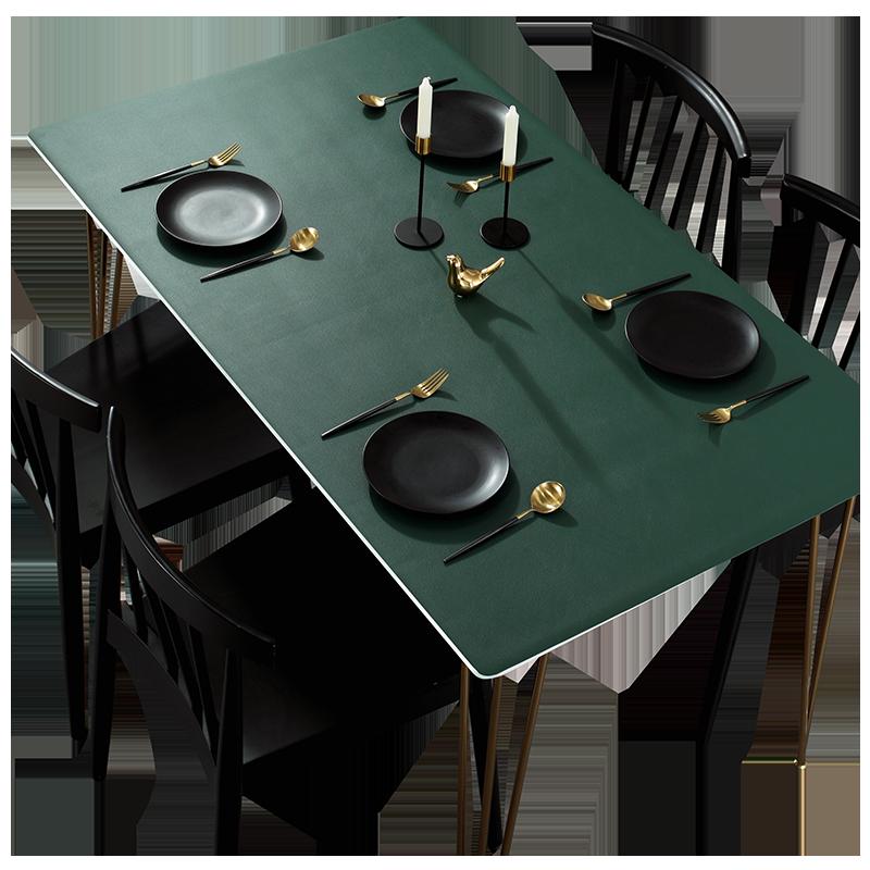 北欧皮革桌垫餐桌布防水防油免洗无味防烫