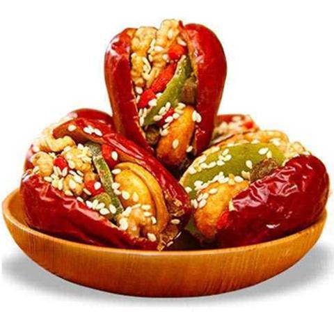 红枣夹核桃1000g 什锦枣夹核桃芝麻猕猴桃干葡萄干500g多规格