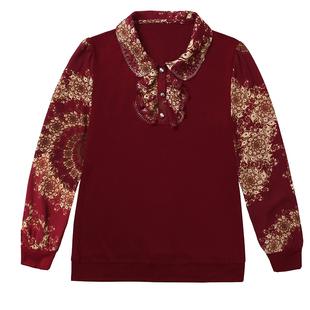 妈妈装秋装时尚两件套新款针织衫T恤中年女装春秋长袖上衣打底衫