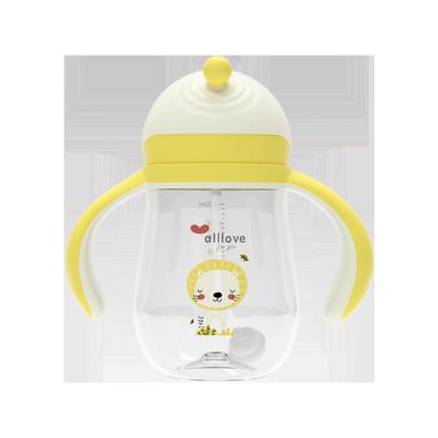 澳乐婴儿学饮杯儿童吸管杯宝宝喝水杯刻度杯直饮杯防呛摔饮水杯子