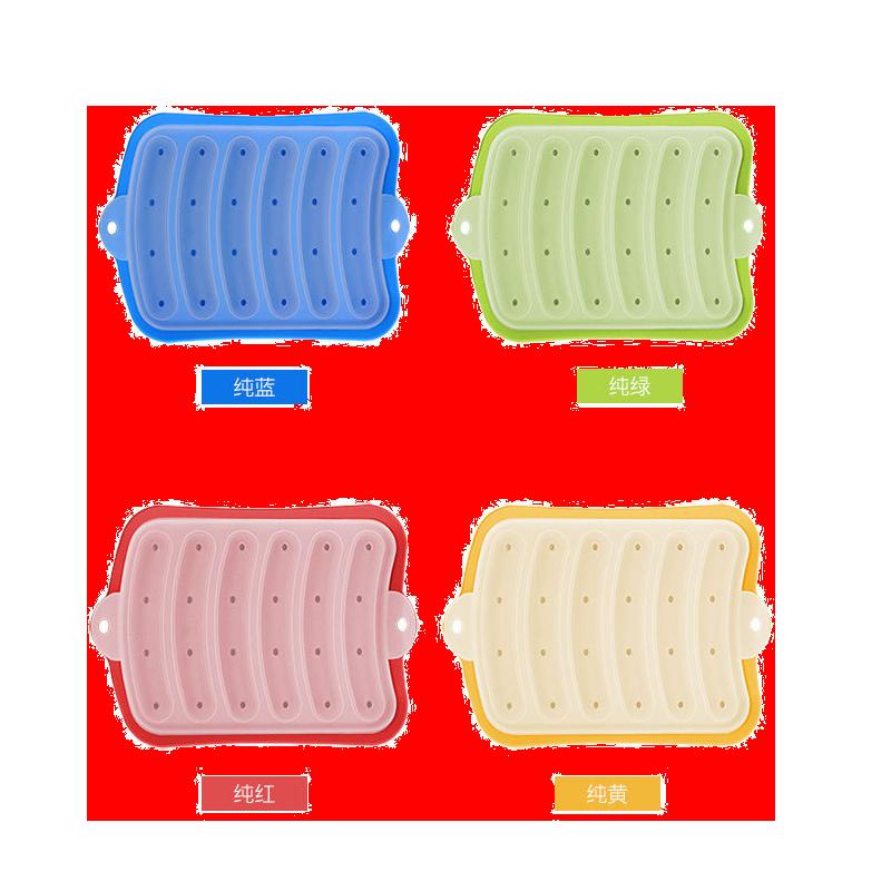 香肠模具宝宝辅食儿童蒸肠硅胶婴儿自制DIY家用手工火腿肉肠磨具