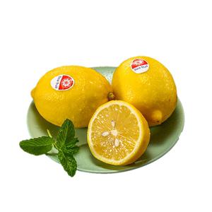 精选皮薄多汁新鲜6颗约700g黄柠檬