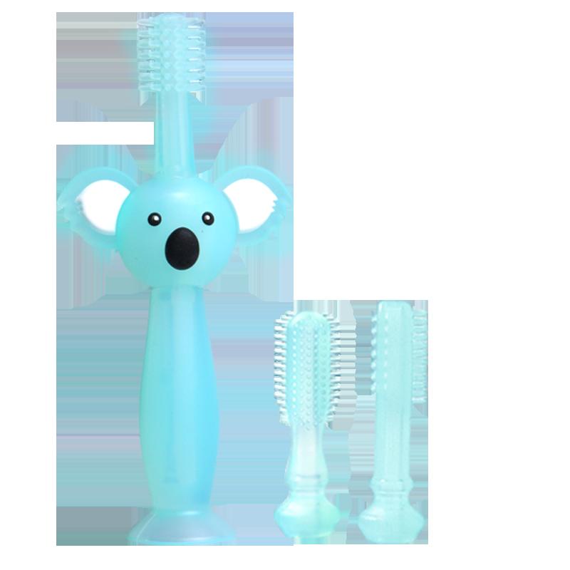 婴儿硅胶牙刷宝宝练习刷牙