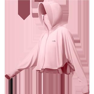 ohsunny兒童防曬衣女防紫外線薄款透氣中大童斗篷外套親子皮膚衣