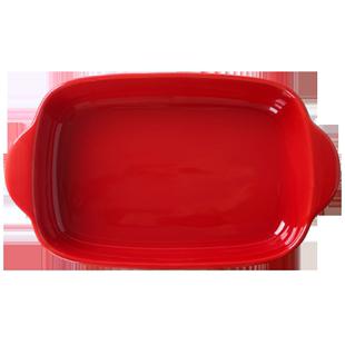 雙耳陶瓷烤盤芝士焗飯盤子家用菜盤創意網紅餐具微波爐烤箱專用碗