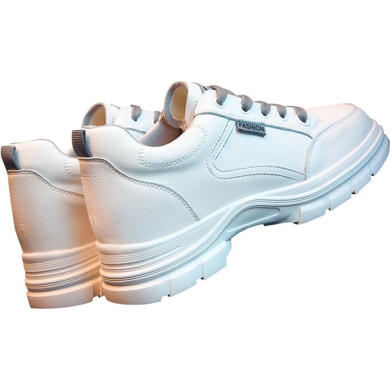 小白鞋女鞋子春秋季2021新款运动休闲秋冬秋款厚底内增高单鞋皮鞋