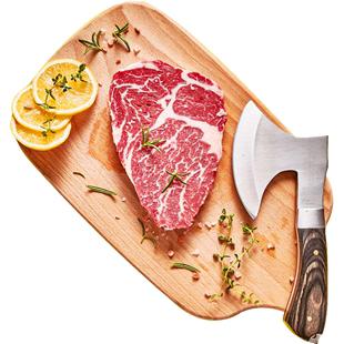 澳洲进口 小牛凯西 原肉整切 牛排套餐 100g*10片 159元包邮 赠煎锅