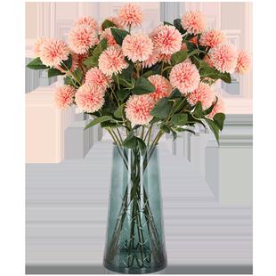 仿真繡球花蒲公英情人玫瑰花束客廳落地裝飾乾花假花絹花插花擺件