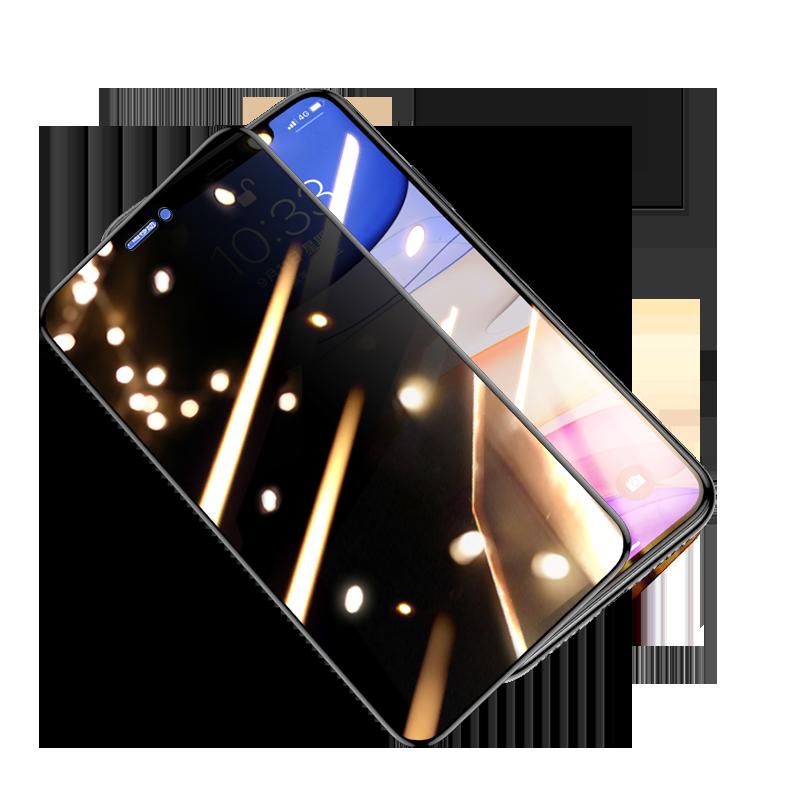 适用于苹果X钢化膜XR防窥膜iPhone11/Pro全屏XS/Max防窥7/8P/6/6s手机iPhonexr膜promax六plus七sp八iphoneX