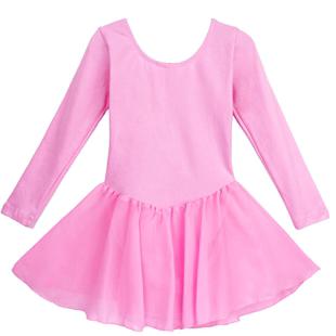 儿童舞蹈练功服纯棉短袖女童跳舞衣服夏季薄款中国舞芭蕾舞跳舞裙