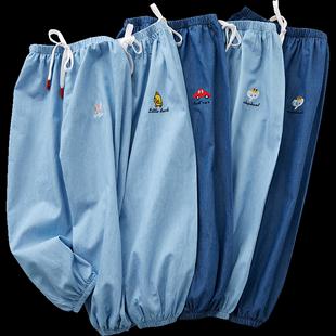 儿童男童2019新款女童装夏季防蚊裤