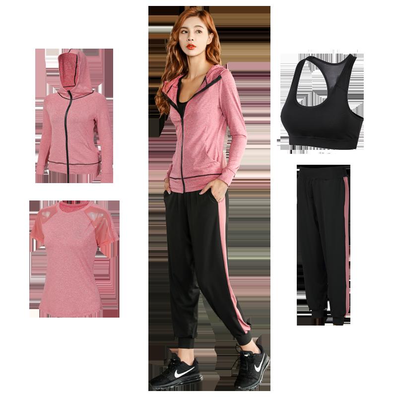 瑜伽服春夏季新款网红瑜伽服运动套装女速干跑步运动服健身套装女