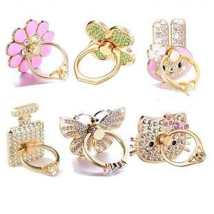 买二送一全金属镶钻指环扣支架戒指