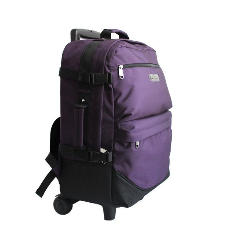 可拆拉杆背包双肩旅行包女男手提旅游购物袋出差包多功能登机箱轻