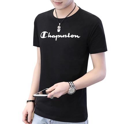 男短袖t恤纯色白色纯白纯棉打底衫