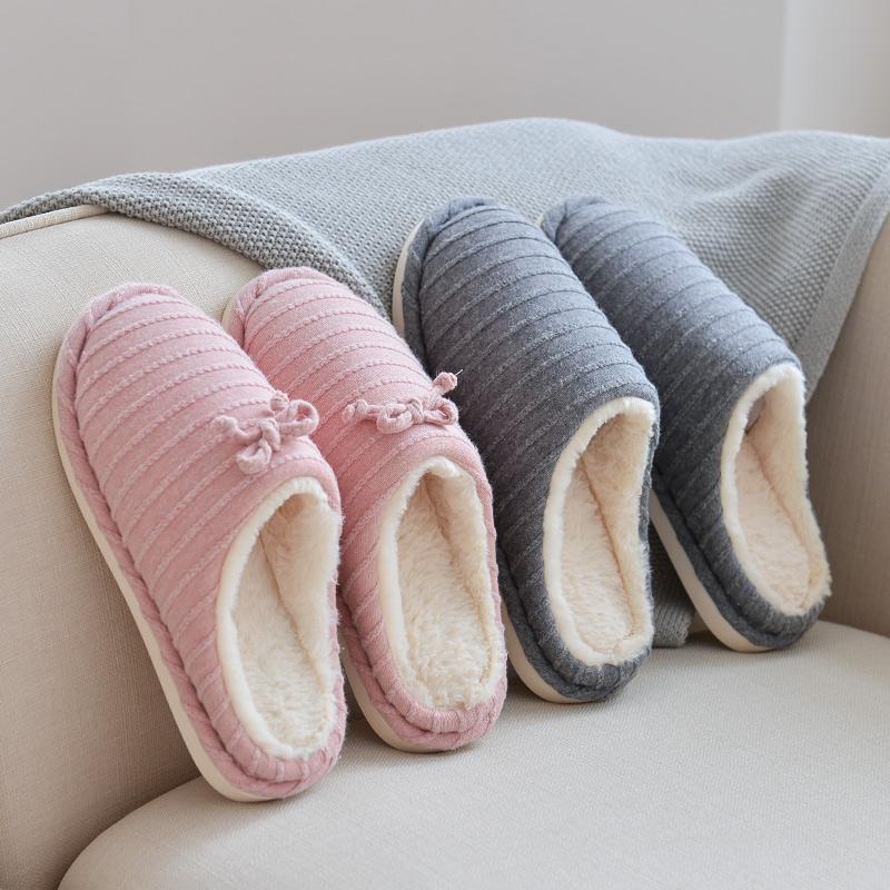 。断码清仓 冬季卡通毛绒保暖居家棉拖鞋男士可爱室内地板拖鞋女