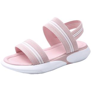 涼鞋女防滑外穿孕婦鞋腳浮腫平底涼拖鞋ins超輕仙女風運動涼鞋夏