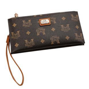 放手機的小包簡約新款2020媽媽款大氣雙拉鍊手包女士手拎包零錢包