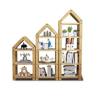 書架落地簡約現代簡易置物架子組裝組合兒童實木小書櫃家用省空間