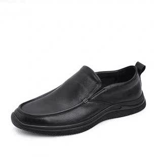 特價清倉斷碼娜 百麗男鞋真皮日常休閒皮鞋牛皮舒適軟面豆豆單鞋