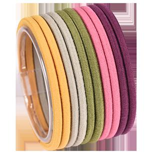 簡約基礎彩虹發繩韓國南大門高彈力彩色髮圈橡皮筋加粗頭繩皮套女