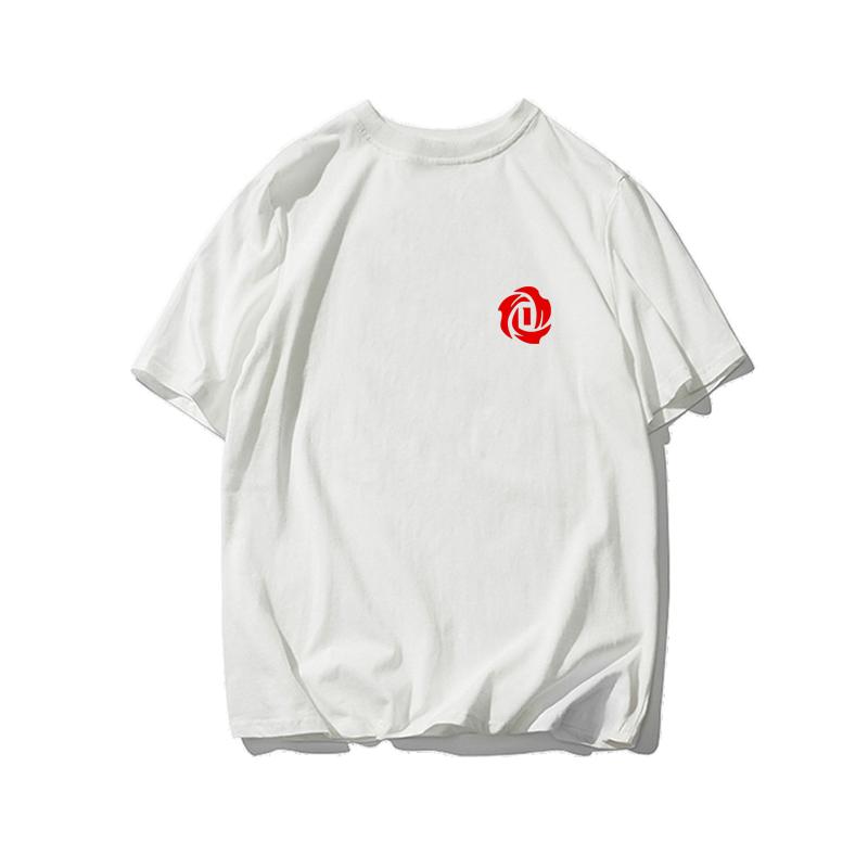 风城玫瑰森林狼ROSE罗斯篮球运动纯棉短袖T恤宽松透气半袖t恤衫男