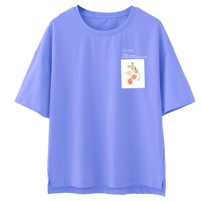 短袖t恤女2020夏季新款韩版宽松圆领纯棉体恤女半袖上衣ins女潮