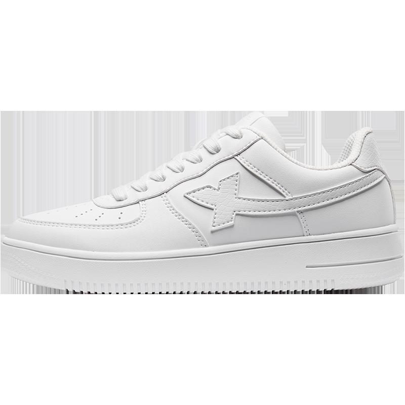 特步空军一号女鞋板鞋休闲小白鞋