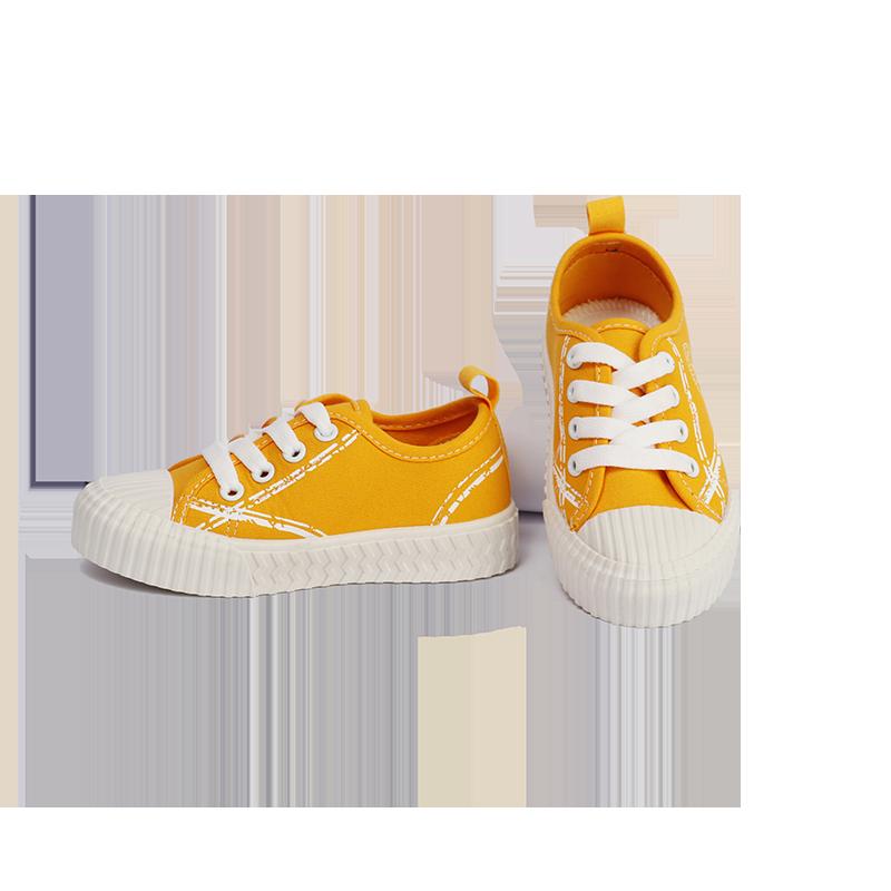 童鞋女童帆布鞋2020年春秋男童布鞋防滑透气软底儿童室内鞋一脚蹬
