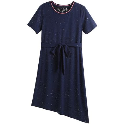 歌瑞莉2019夏款洋气大码女装连衣裙