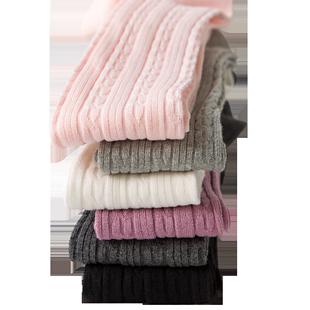 女童連褲襪春秋款中厚兒童寶寶打底褲長筒襪純棉秋冬洋氣加絨秋季