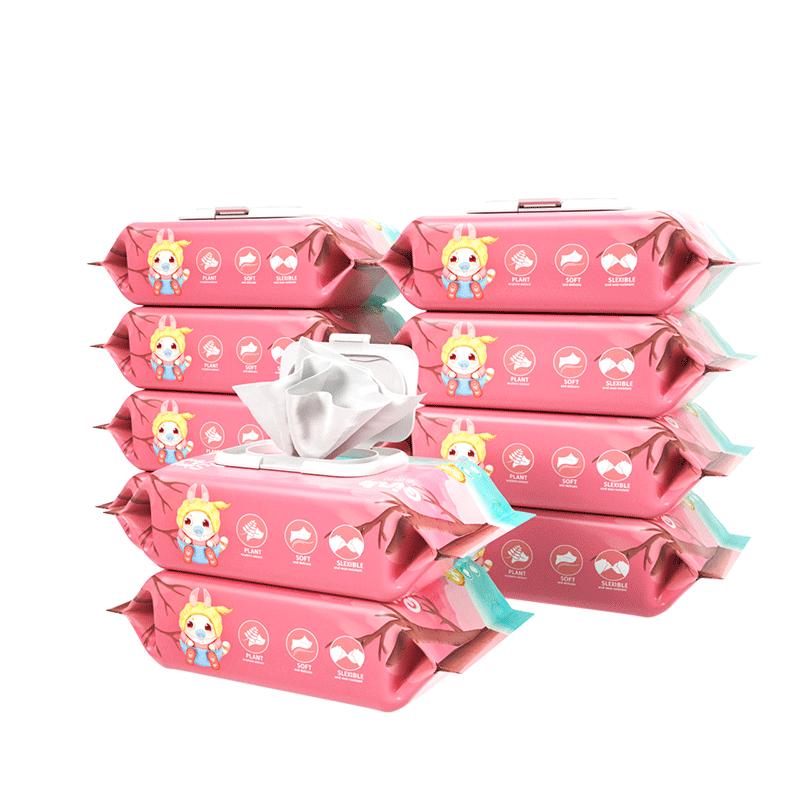 婴儿湿巾纸巾手口屁专用幼儿新生宝宝80抽