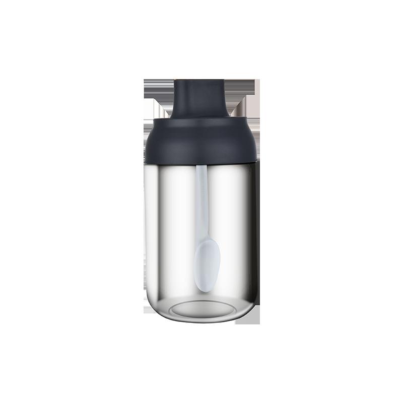 调料盒调味瓶玻璃罐子盐味精罐佐料收纳勺盖一体家用厨房组合套装