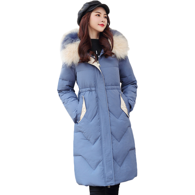 【洛滨莎】冬季女中长加厚款羽绒棉服-秒客网