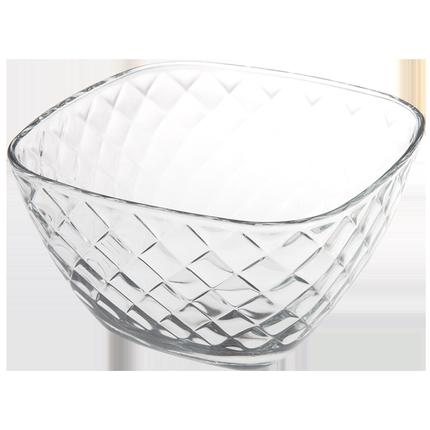 家用欧式餐具简约透明碗大号玻璃碗