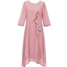 【夏季爆款】妈妈装中年气质雪纺连衣裙