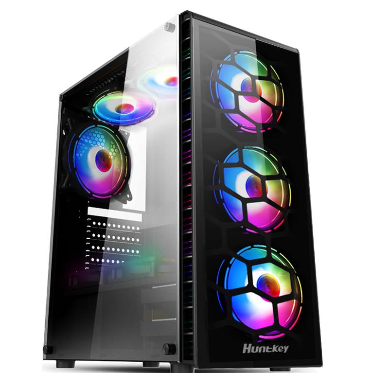 航嘉机箱GX500P 台式电脑机箱玻璃侧透水冷机箱ATX机箱游戏主机箱