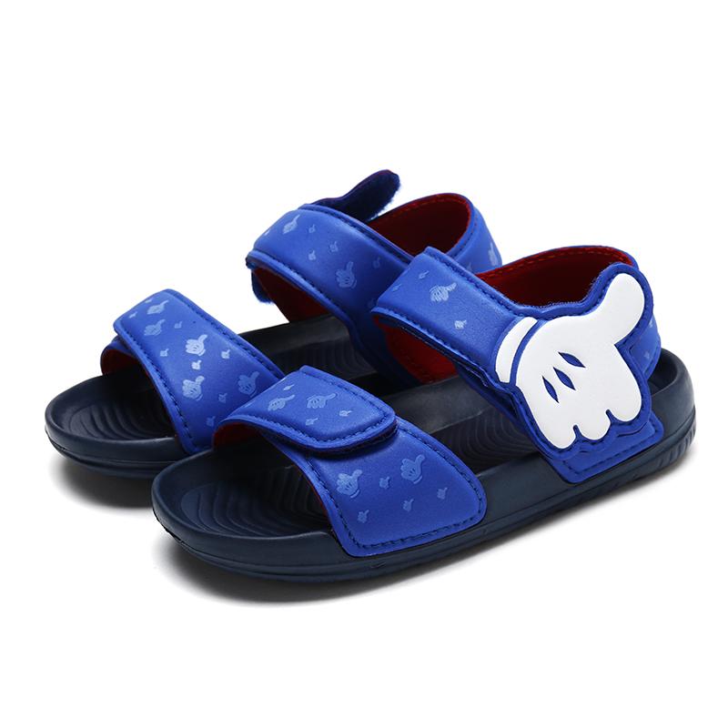 2019新款儿童凉鞋中小男童夏季魔术贴软底沙滩鞋女童公主鞋洞洞鞋