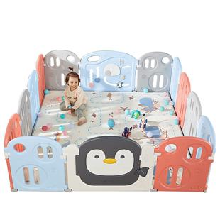 曼龍兒童遊戲圍欄嬰兒室內寶寶學步爬行墊防護柵欄安全家用玩具