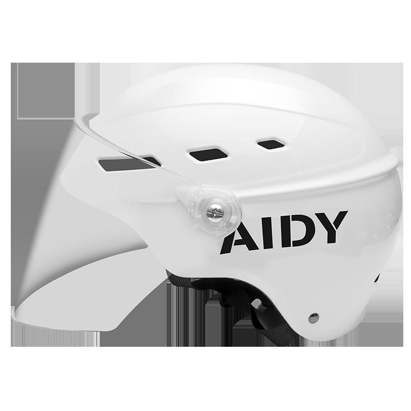 电动车头盔女四季通用头盔夏季安全帽轻便式半盔电瓶车个性头盔女
